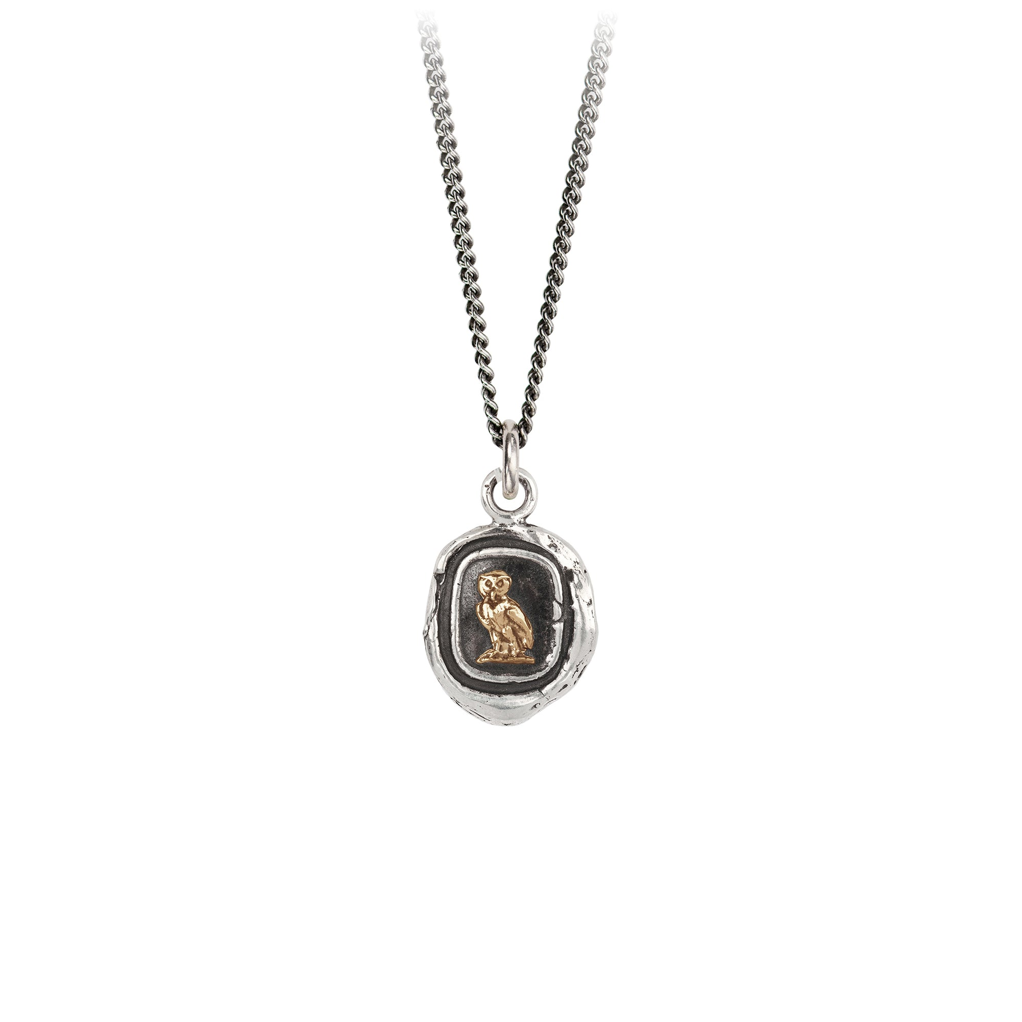 Pyrrha 14K Gold on Silver Watch Over Me Talisman Necklace