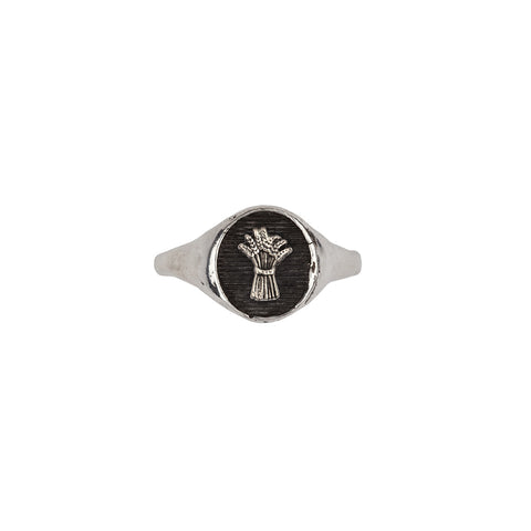 Wheat Symbol Signet Ring - Pyrrha  - 1