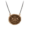 Pyrrha While I Breathe I Hope Talisman Necklace Medium Cable Chain Bronze