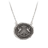 Pyrrha While I Breathe I Hope Talisman Necklace Medium Cable Chain Silver