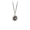 Pyrrha Writer Talisman Necklace Fine Curb Chain Silver