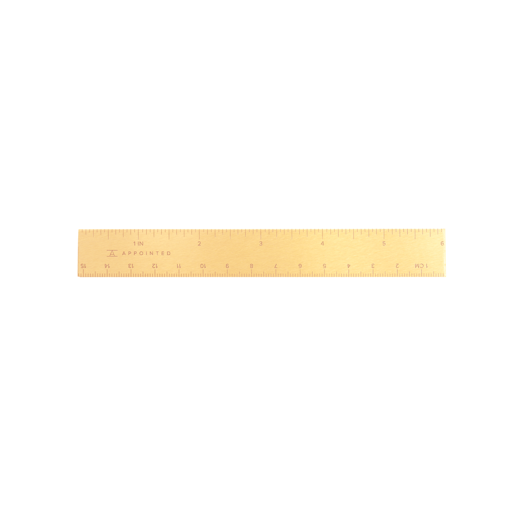 Appointed - Brass Ruler