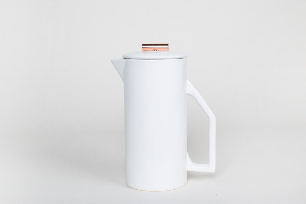 Yield - 850 mL Ceramic French Press (Cream)