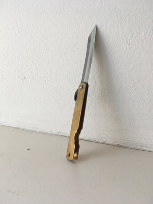 Banshu Hamono - Japanese Folding Knife M (Brass)