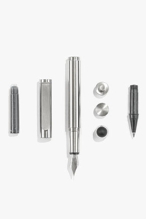 Inventery - Pocket Fountain Pen (Brushed Chrome)