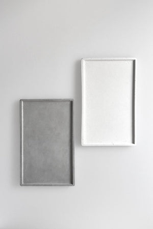 Studiokyss - Rectangular Concrete Tray (white)