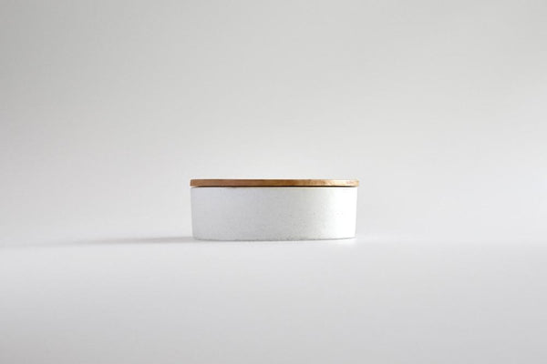 Studiokyss - White Small Round Concrete Container