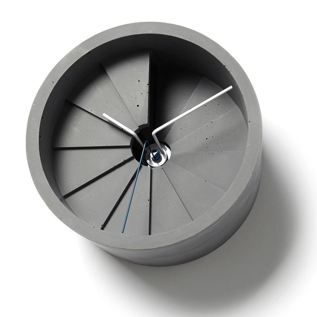 22 - 4th Dimension Wall Clock (Blue/Grey)