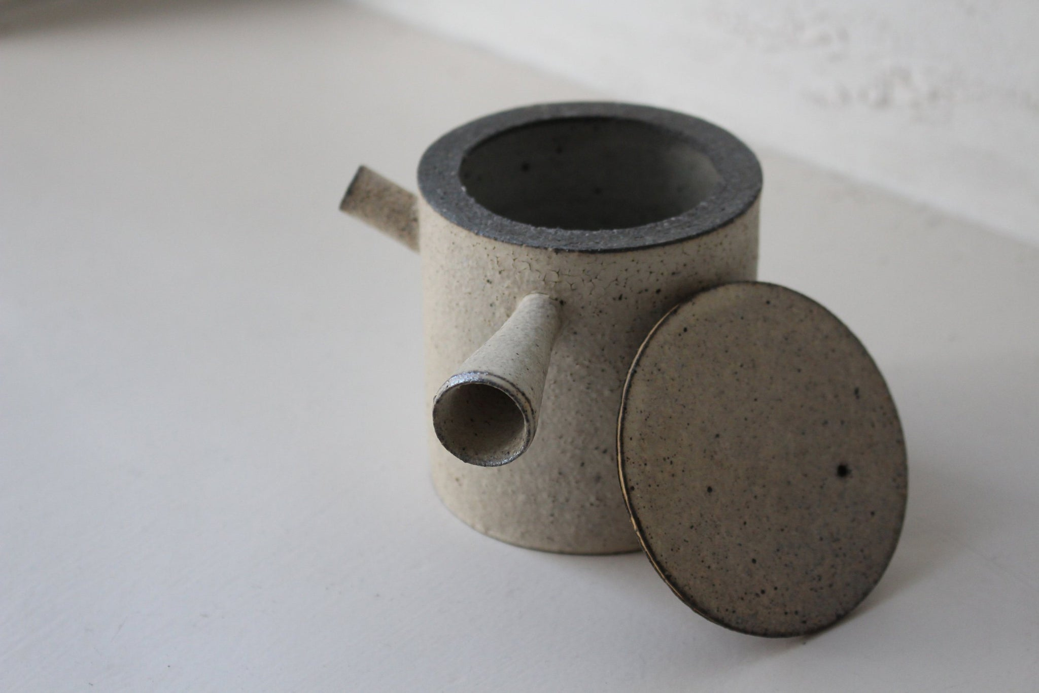 Takashi Endoh - Japanese Tea Pot (White)