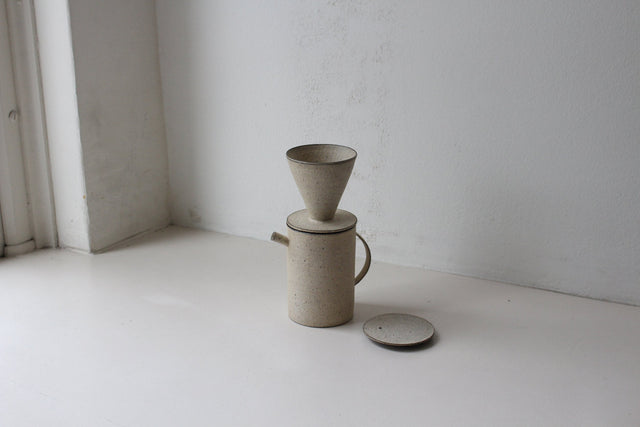 Takashi Endoh - Pot and Dripper (White)