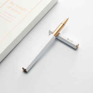 Ystudio - Rollerball Pen White (Limited Edition)