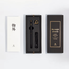 Ystudio - Portable Ballpoint Pen (Black Brassing)