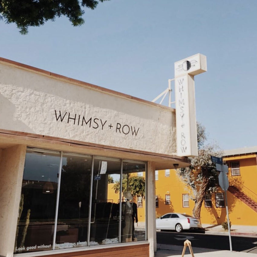 Whimsy & Row shop front, 12801 Venice Blvd. Los Angeles CA
