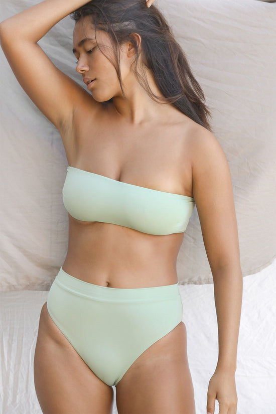 Toast Swim Bandeau Top - Desert Sage - Whimsy & Row
