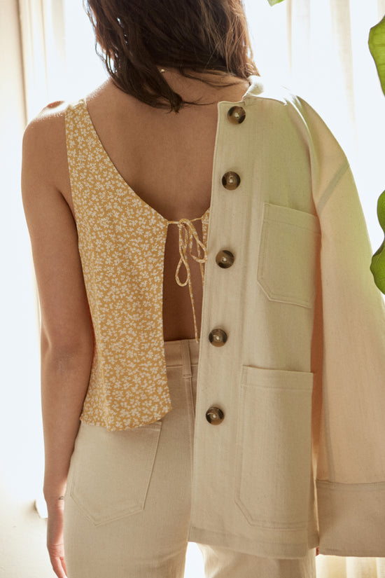 Jordan Jacket in Cream - Whimsy & Row