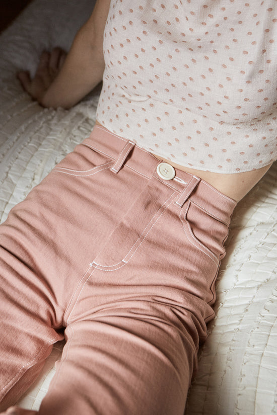 Flora Pant in Rose - Whimsy & Row