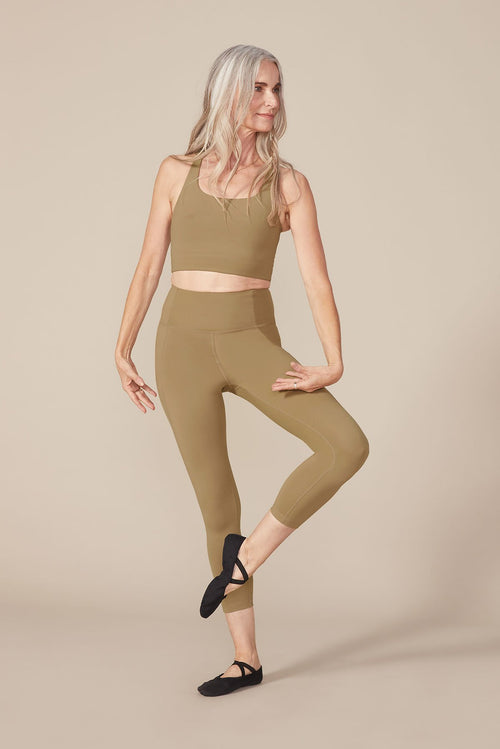 Girlfriend Collective Long Compressive High-Rise Legging in Sand