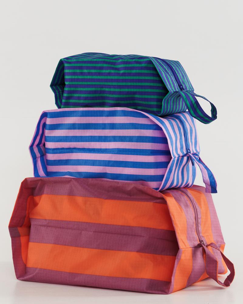 Baggu 3D Zip Set- Stripe Confection - Whimsy & Row