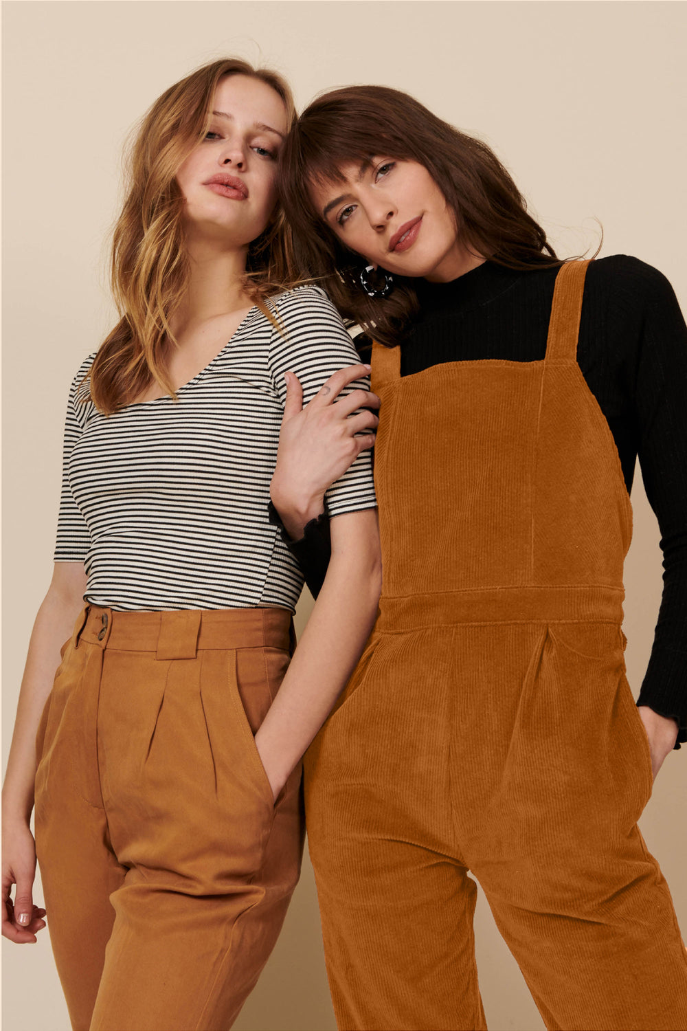 Billie Overall in Gold Cord - Whimsy & Row
