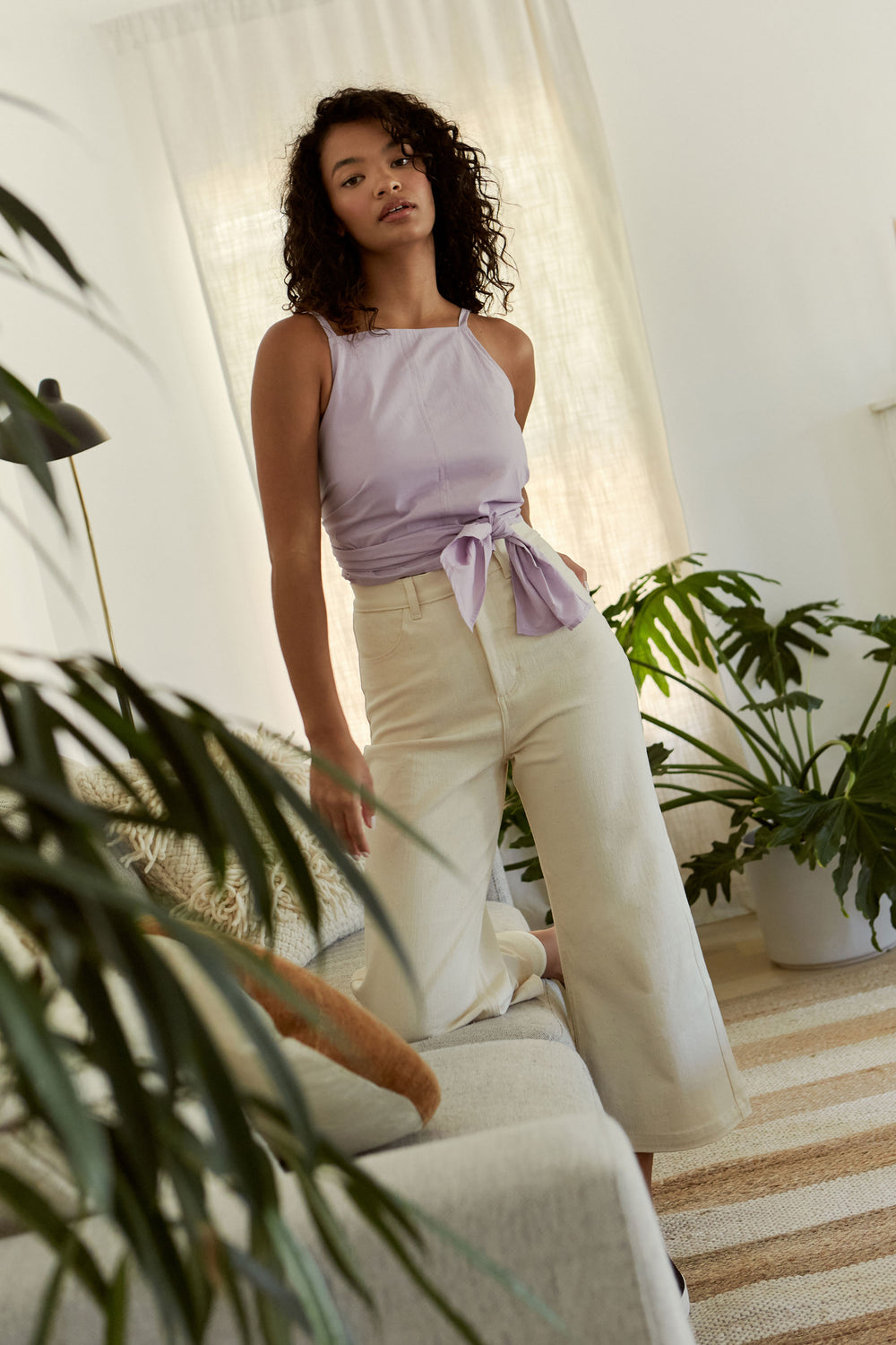 Flora Pant in Natural - Whimsy & Row