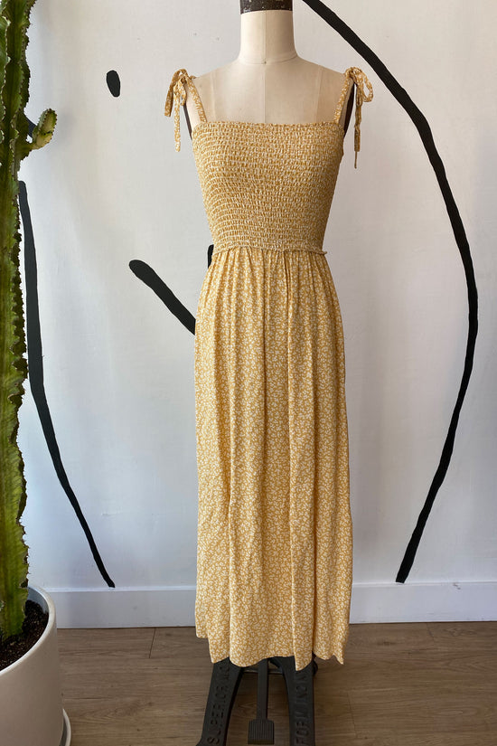 Sample Sale Sophie Dress in Yellow Petite Floral - Whimsy & Row
