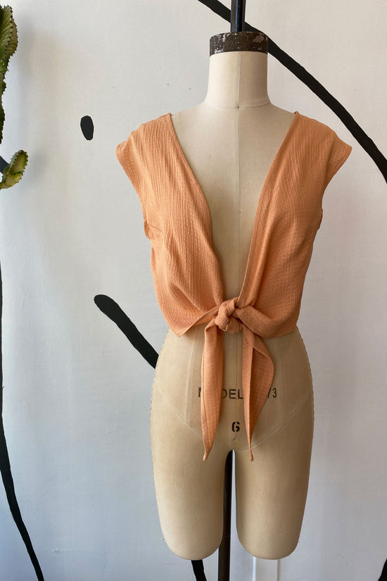 Sample Sale Valentina Top in Peach - Whimsy & Row