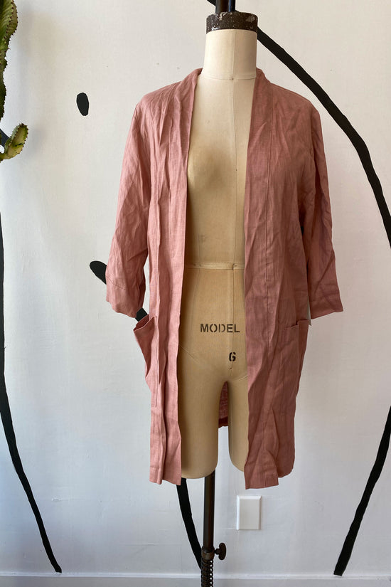 Sample Sale Frances Duster in Blush Linen - Whimsy & Row