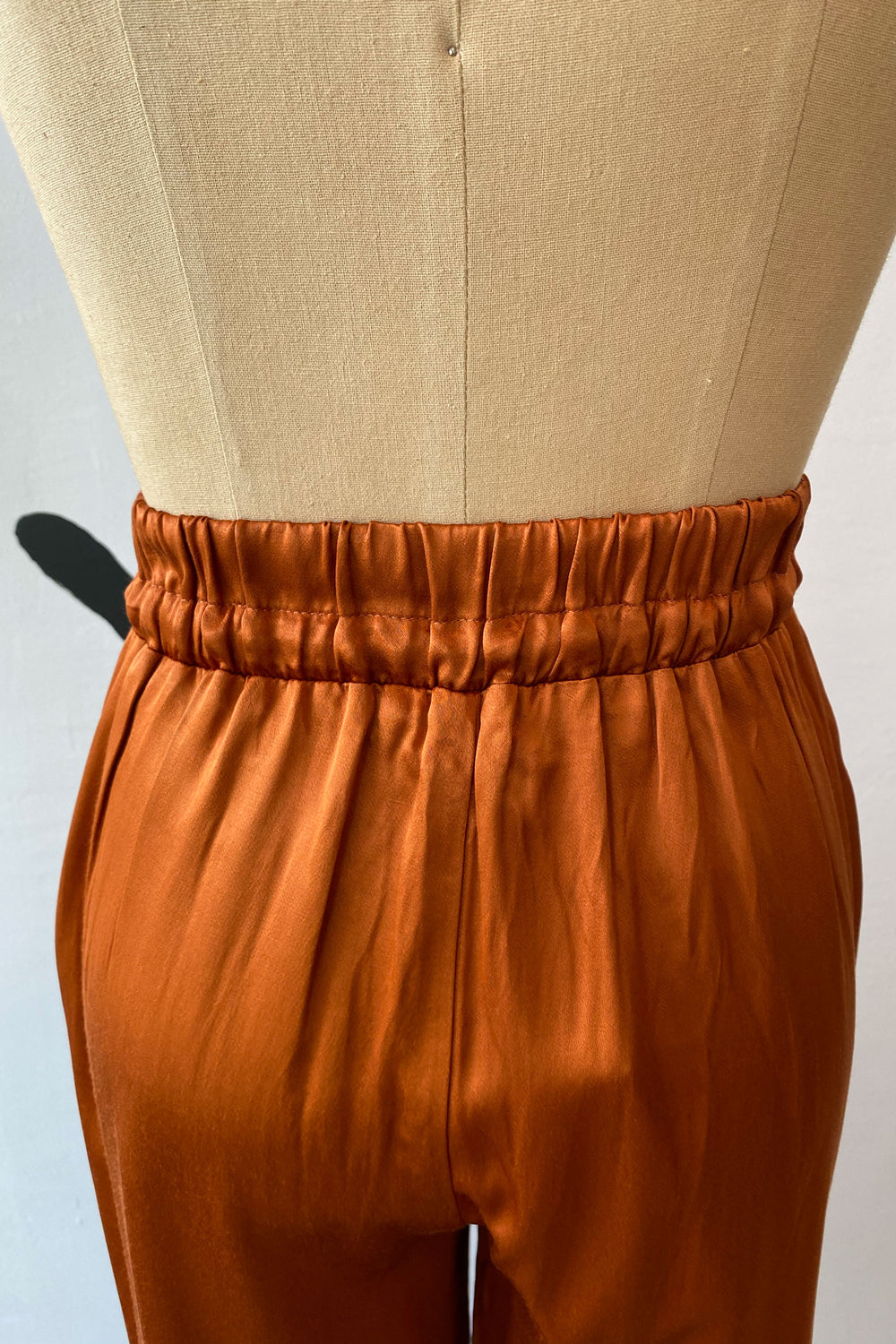Sample Sale Norah Pants in Shiny Rust - Whimsy & Row
