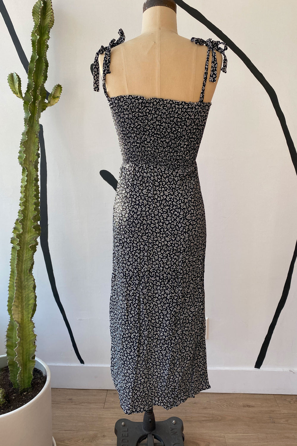 Sample Sale Sophie Dress in Black Petite Floral - Whimsy & Row