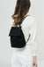 Baggu Mini Canvas Backpack in Black