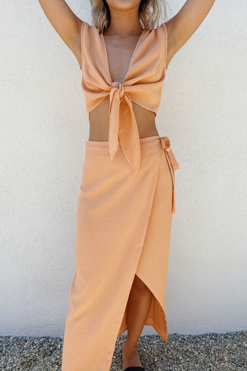 Valentina Top in Peach - Whimsy & Row
