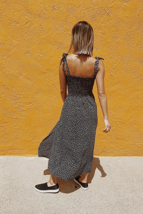 Sophie Dress in Black Petit Floral