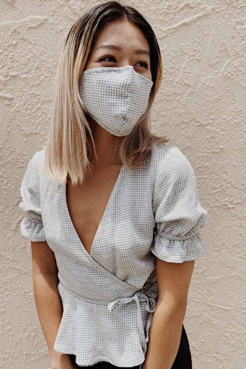 Gingham Washable Mask