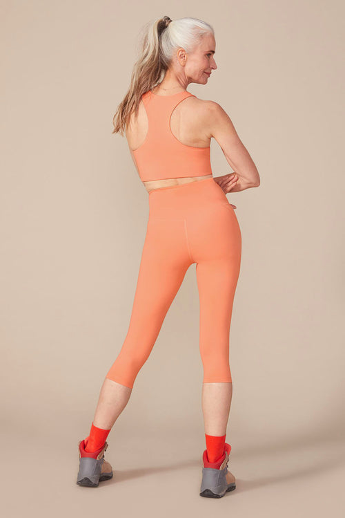 Girlfriend Collective Short Compressive High-Rise Legging in Sherbert