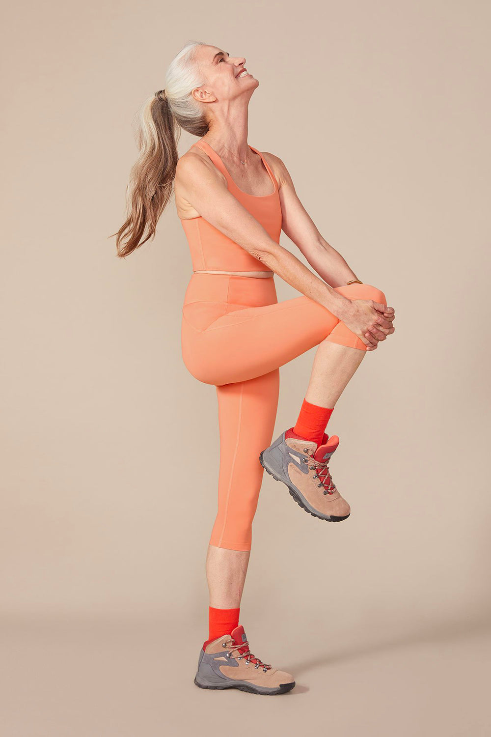 Girlfriend Collective Short Compressive High-Rise Legging in Sherbert - Whimsy & Row