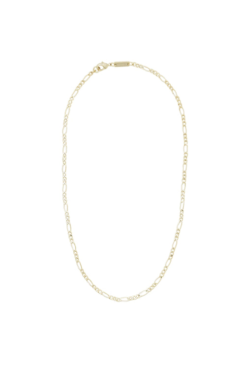 Petite Figaro Chain Necklace in Gold