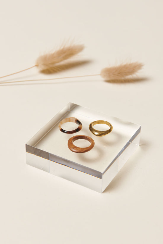 Soko Sabi Mixed Material Stacked Rings - Whimsy & Row