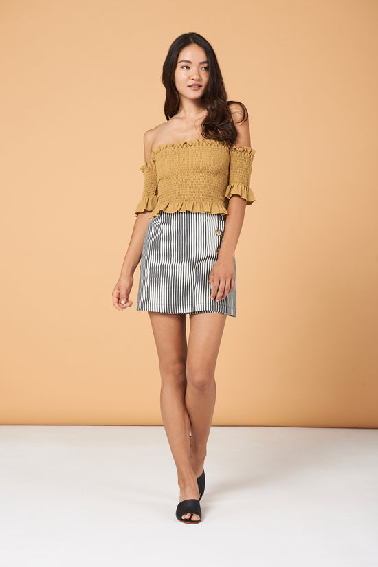 Dena Top in Gold - Whimsy & Row