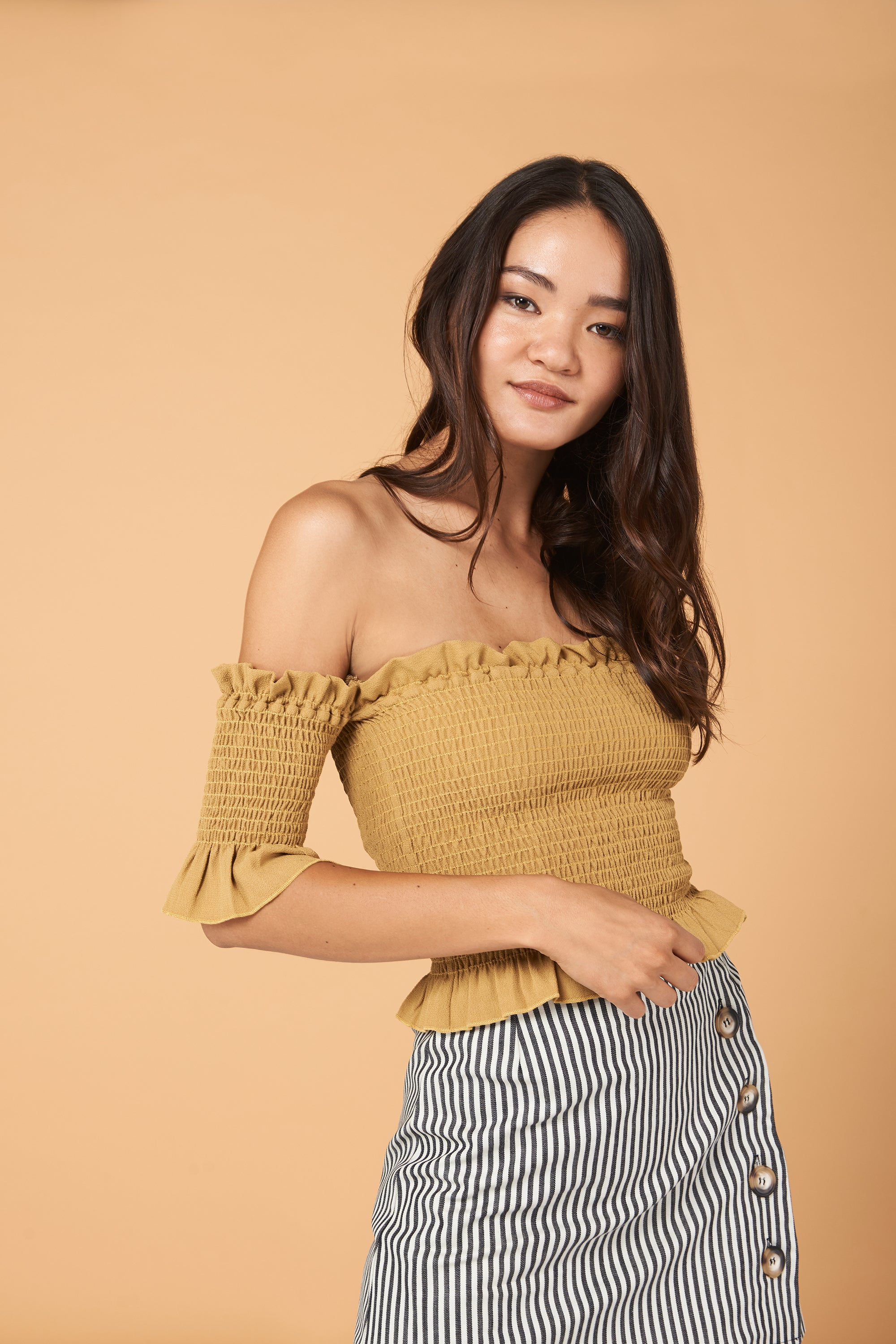 Dena Top in Gold