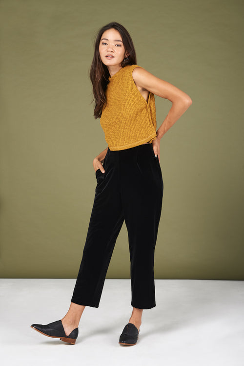 Rowen Pants in Black Velvet