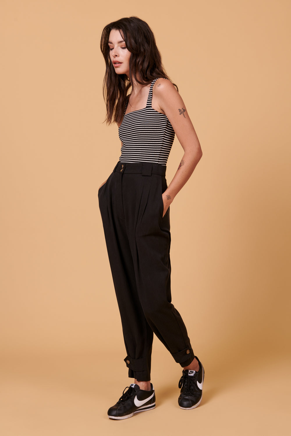 Leanna Pant in Black - Whimsy & Row