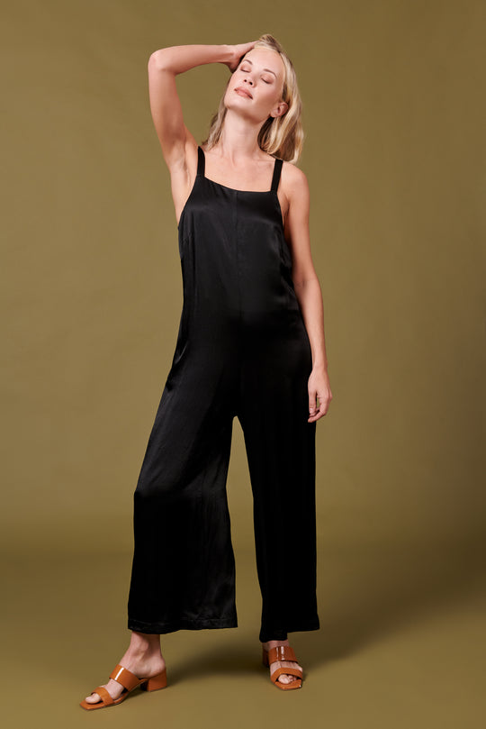Isabella Jumpsuit in Shiny Black