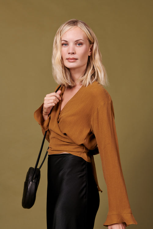 Evelyn Top in Tan