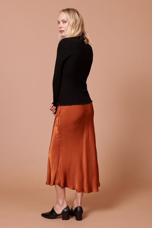 Diana Skirt in Shiny Rust