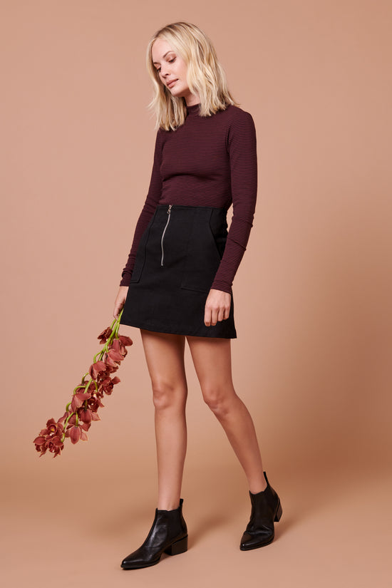 Jenna Skirt in Black - Whimsy & Row