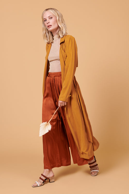 Norah Pants in Shiny Rust