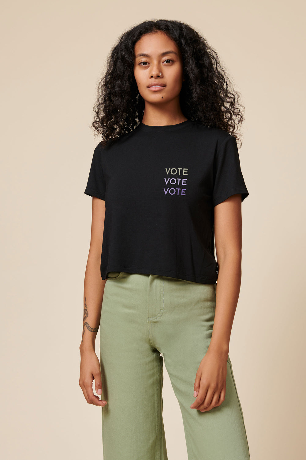 VOTE Tee in Black - Whimsy & Row