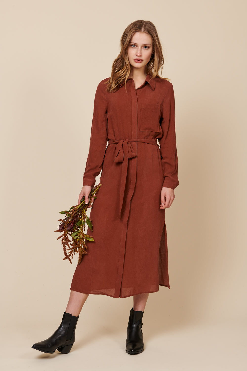 Zoe Dress in Sienna - Whimsy & Row