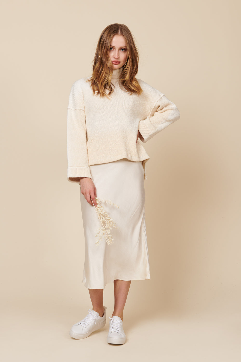 Diana Skirt in Cream - Whimsy & Row