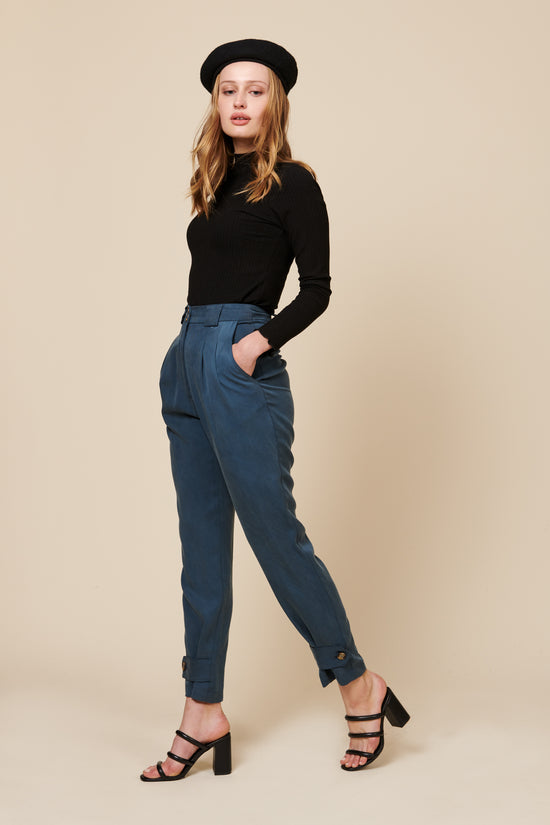 Leanna Pant in Blue - Whimsy & Row
